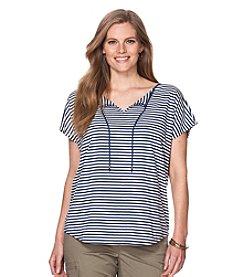Chaps® Plus Size Striped Jersey T-Shirt