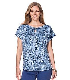 Chaps® Plus Size Paisley Jersey T-Shirt