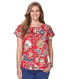 Chaps® Plus Size Floral Jersey T-Shirt