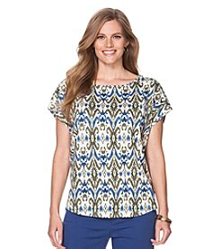 Chaps® Plus Size Printed Jersey Tee