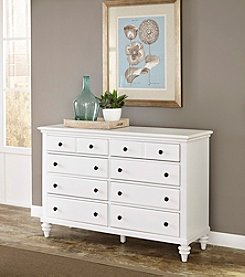 Home Styles® Bermuda Brushed White Dresser