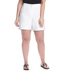 Rafaella® Plus Size Solid Curvy Fit Shorts