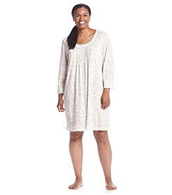 Miss Elaine® Plus Size Printed Nightgown