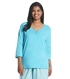 KN Karen Neuburger Plus Size Pajama Top