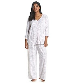 KN Karen Neuburger Plus Size Cardigan Pajama Set
