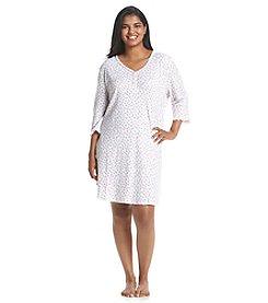 KN Karen Neuburger Plus Size Printed Sleepshirt