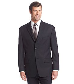 John Bartlett Statements Men's Navy Herringbone Suit Separates Jacket