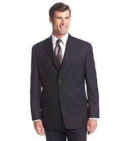 John Bartlett Statements Men's Navy Herringbone Suit Separates Jacket