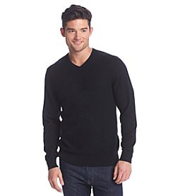 John Bartlett Consensus Men's Long Sleeve Textured V-Neck Sweater