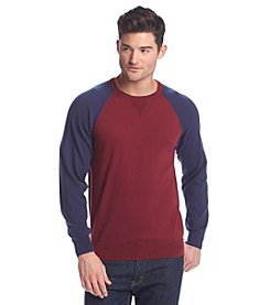 John Bartlett Consensus Men's Long Sleeve Colorblock Raglan Sweater