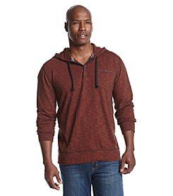 Ruff Hewn Men's End On End Slub Tonal Hooded Sweatshirt