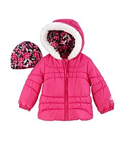 London Fog® Baby Girls' Fur Trim Puffer