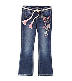Squeeze® Girls' 2T-6X Floral Embroidered Flare Jeans