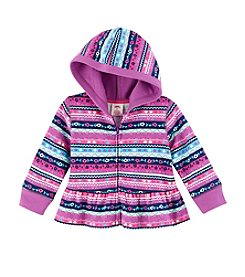 Mix & Match Baby Girls' Geo Printed Fleece Hoodie