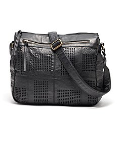 GAL Burnished Washed Perforated Crossbody