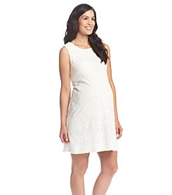 Three Seasons Maternity™ Sleeveless A Line Lace Dress