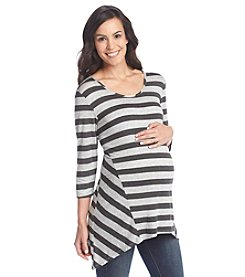 Three Seasons Maternity™ Pieced Stripe Sharkbite Top
