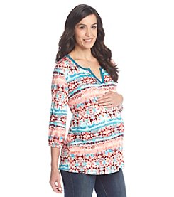 Three Seasons Maternity™ Split Neck Boho Top