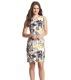 Connected® Petites' Tropical Floral Sheath Dress
