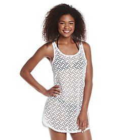 Miken® Crochet Racerback Tank Cover-Up