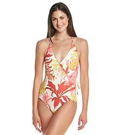 Vince Camuto® V-Neck Halter One-Piece