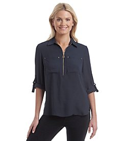 MICHAEL Michael Kors® Dog Tag Woven Tunic