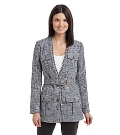 MICHAEL Michael Kors® Belted Tweed Blazer