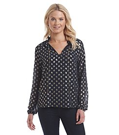 MICHAEL Michael Kors® Chain Dot Raglan Top