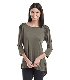 Nine West Jeans® Gabriella Embroidered Shoulders Top