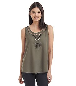 Nine West Jeans® Embellished Neckline Tank
