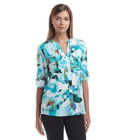 Calvin Klein Floral Ocean Blouse