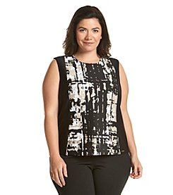 Calvin Klein Plus Size Color Block Tank