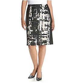 Calvin Klein Plus Size Color Block Skirt