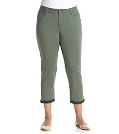 Democracy Plus Size Cuffed Denim Pants