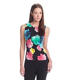 Calvin Klein Petites' Floral Print Pleat Neck Cami