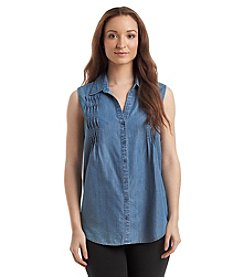 Gloria Vanderbilt® Chambray Tank Top