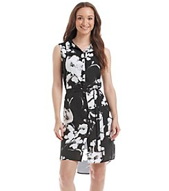 Relativity® Printed Sleeveless Shirt Dress