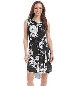 Relativity® Printed Sleeveless Shirt Dress