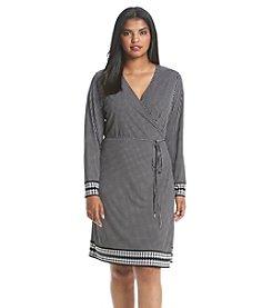 MICHAEL Michael Kors® Plus Size Harget Border Wrap Dress