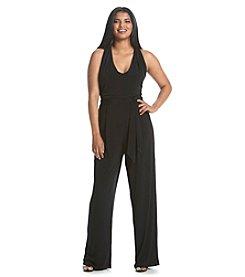 MICHAEL Michael Kors® Plus Size Belted Halter Jumpsuit