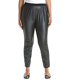 MICHAEL Michael Kors® Plus Size Faux Leather Ponte Pants