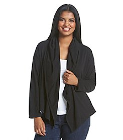 MICHAEL Michael Kors® Plus Size Drape Hood Cardigan