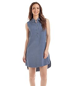 Joan Vass New York® Shell Buttoned Collar Dress