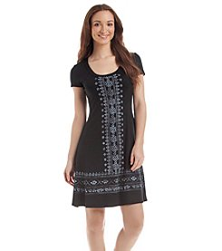 Karen Kane® Embroidered T-Shirt Dress