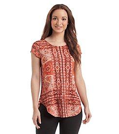 Karen Kane® Printed Shirttail Top