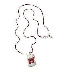 accessory PLAYS™ NCAA® University Of Wisconsin Dog Tag Necklace