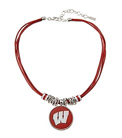 accessory PLAYS™ NCAA University Of Wisconsin Multi Row Cord Pendant Necklace