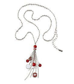 accessory PLAYS™ NCAA University Of Wisconsin Tassel Fringe Beads And Football Necklace
