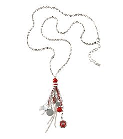 accessory PLAYS™ Ohio State University Tassel Fringe Beads And Football Necklace