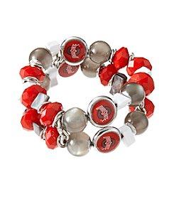 accessory PLAYS™ NCAA Ohio State University Two Row Beaded Stretch Bracelet